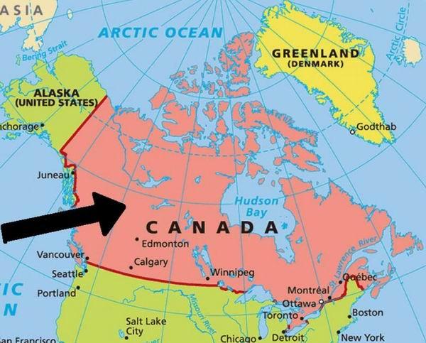 Карта Канады с основными городами